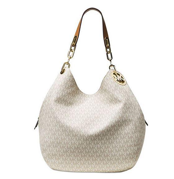 adb294d498a6 ... MICHAEL Michael Kors Signature Large Fulton Shoulder Bag (Vanilla)  30S7GFTL3B-150. Image 1