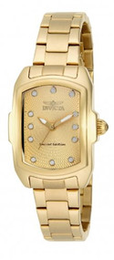 Invicta Baby Lupah Champagne Dial Gold Ion-plated Ladies Watch 15849 [Watch] ...