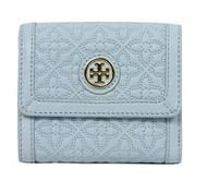 Tory Burch Bryant Leather Mini Wallet (Iceberg)