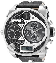 Diesel Men's DZ7125 Black SBA Oversized Analog-Digital Black and Silver Dial