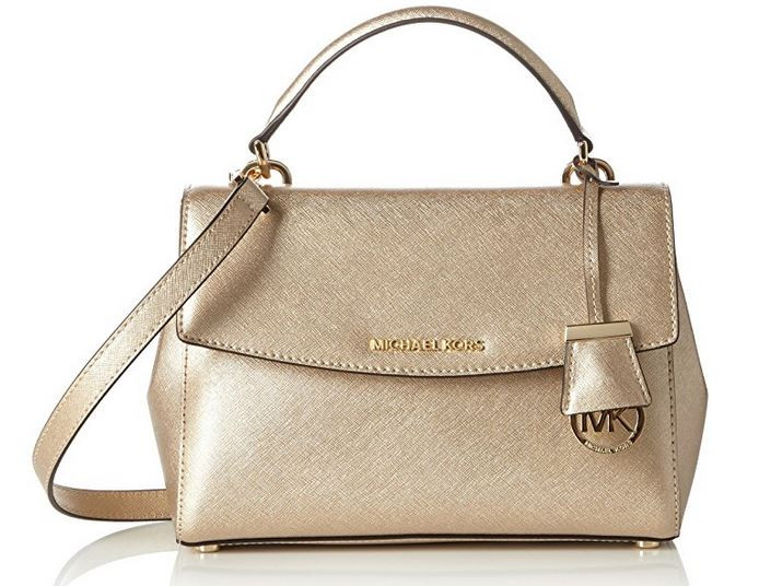 ec75e1c529cc2 ... Michael Kors Womens Ava Small Top Handle Satchel (Pale Gold)  30F5MAVM2M-740. Image 1