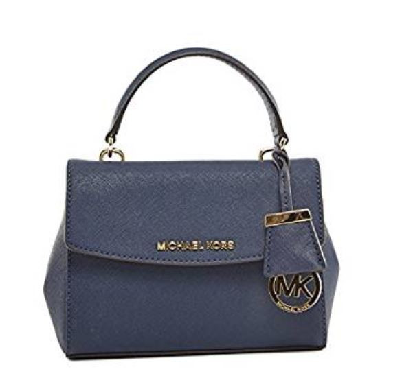 d64a7bf39af7 ... MICHAEL Michael Kors Ava Small Crossbody Bag Navy One Size 30T5GAVS2L-406.  Image 1