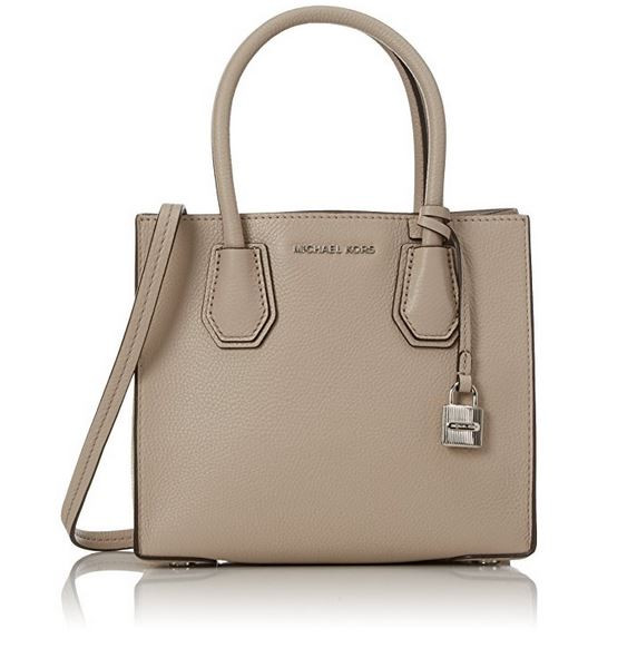 ec50dfa6e36c Michael Kors Women s Medium Mercer Bonded Leather Tote Shoulder Bag ...