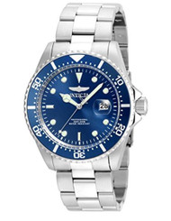 Invicta Men's 'Pro Diver' Quartz Stainless Steel Diving Watch, Color:Silver-Toned (Model: 22019)