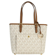 Michael Kors Medium Jet Set Top Zip Tote - Vanilla 30S6GTTT8B-150