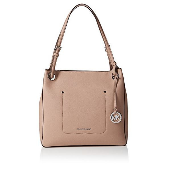 17627eec980d MICHAEL Michael Kors Walsh Medium Shoulder Tote (Fawn) 30S7SWAE6L-133