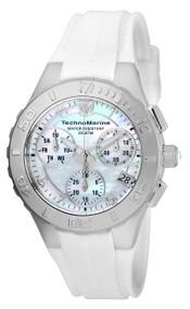TechnoMarine Cruise Medusa Chronograph White Dial Ladies Watch 115083
