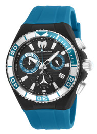 TechnoMarine Men's Cruise Locker 45mm Blue Silicone Band Steel Case Swiss Quartz Analog Watch TM-115163