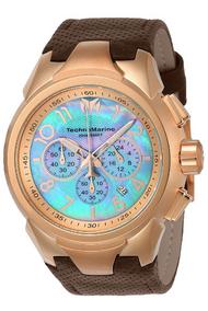 TechnoMarine Men's TM-715025 Sea Dream Quartz Chronograph Platinum Dial Watch
