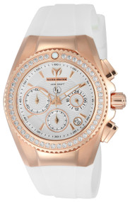 TechnoMarine Women's TM-416003 Eva Longoria Quartz  White Dial Watch