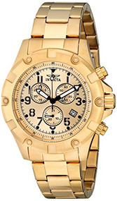 Invicta Men's 13619 Specialty 18k Gold Ion-Plated Watch [Watch] Invicta