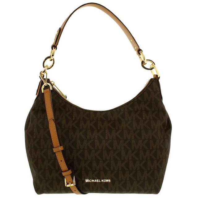 6a863cbf0c16 ... MICHAEL Michael Kors Isabella Medium Convertible Shoulder Bag (Signature  Brown). Image 1