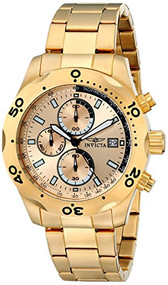 Invicta Men's 17750 Specialty 18k Gold-Plated Watch [Watch] Invicta