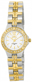 Invicta Women's 0127 Wildflower Quartz 3 Hand White Dial Watch