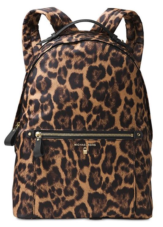f18d1d9e39a0 ... MICHAEL Michael Kors Kelsey Large Nylon Backpack (Leopard)  30F7GO2B3C-226. Image 1