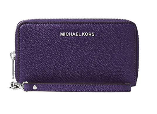 40f8cb87424d ... MICHAEL Michael Kors KORS STUDIO Large Flat Phone Case Wristlet IRIS  32F6SM9E3L-535. Image 1