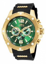 Invicta Men's 19661 I-Force Quartz Chronograph Green Dial Watch