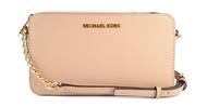 Michael Kors Medium East/West Crossbody Saffiano Leather (Oyster)  32T6GTVC6L-134