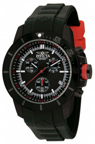 Invicta Men's 11747 Pro Diver Quartz Chronograph Black Dial Watch