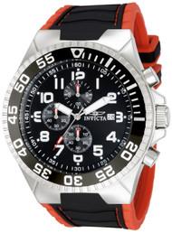 Invicta Men's 12412 Pro Diver Quartz 3 Hand Black Dial Watch