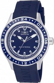 Invicta Men's 15224 Specialty Quartz 3 Hand Blue Dial Watch