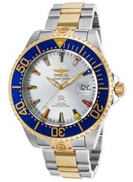 Invicta Men's 21326 Pro Diver Automatic 3 Hand Silver Dial Watch