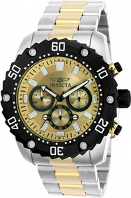 Invicta Men's 22519 Pro Diver Quartz Chronograph Gold Dial Watch