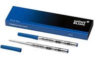MONTBLANC 2 REFILL PENNA A SFERA (F) PACIFIC BLUE (BLU PACIFICO) 116212 …
