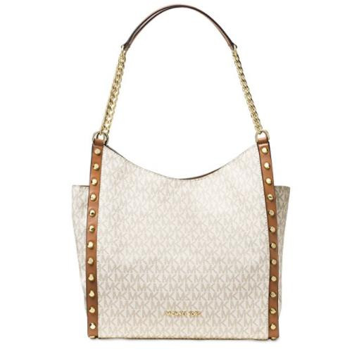 c895f7dfc971 MICHAEL Michael Kors Newbury Medium Chain Shoulder Tote (Vanilla ...