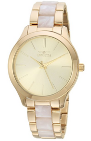 Invicta Women's 'Angel' Quartz Stainless Steel Casual Watch, Color:Gold-Toned (Model: 20496) …