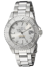 Invicta Women's 'Pro Diver' Quartz Stainless Steel Diving Watch, Color:Silver-Toned (Model: 24628) …
