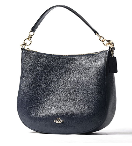 f4b8fba226 ... COACH Women s Polished Pebbled Leather Chelsea 32 Hobo Li Navy One Size  58036-LINAV. Image 1