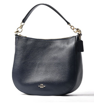 COACH Women's Polished Pebbled Leather Chelsea 32 Hobo Li/Navy One Size 58036-LINAV