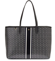 Tory Burch Gemini Link Tote in Black Gemini Link Stripe 33801-883
