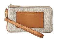 MICHAEL Michael Kors Bedford Lg Dbzp Wrstlt W/Pkt Vanilla/Acorn Wristlet Handbags 32F7GBFW8B-149