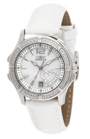 Invicta Women's 1029 Wildflower Quartz 3 Hand White Dial Watch