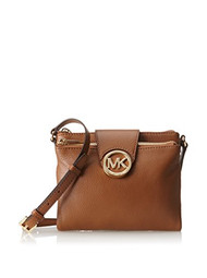 Michael Kors Large Fulton Pebbled Crossbody in Luggage [Accessory]