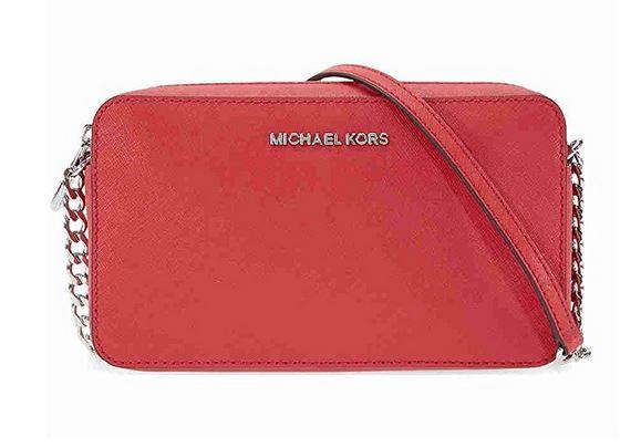 19a6c1fefc63ed MICHAEL Michael Kors Women's Jet Set Cross Body Bag Bright Red One ...