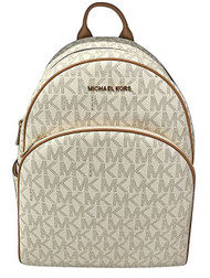 MICHAEL Michael Kors Abbey Jet Set Large Leather Backpack (Vanilla) 35S7GAYB3B-150