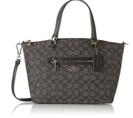 Coach Women's Signature Prairie Satchel, Silver/Black Smoke 36311-SVDK6