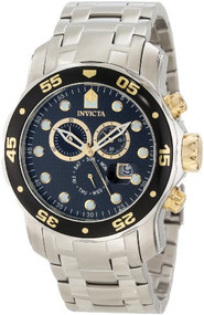 Invicta Men's 10382 Pro Diver Chronograph Black Carbon Fiber Dial Watch [Watc...