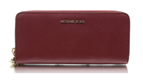 c3a2e3c9407e ... Michael Kors Money Pieces Travel Continental Saffiano Leather  (Mulberry) 32S5GTVE9L-666. Image 1