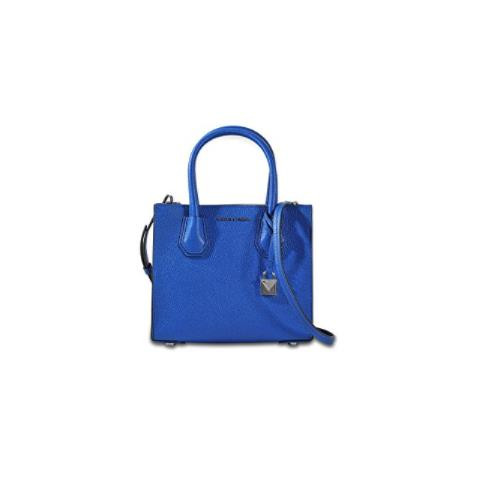 b64b155ae727 ... MICHAEL Michael Kors Mercer Medium Leather Crossbody Bag - Electric Blue  30F6SM9M2L-446. Image 1
