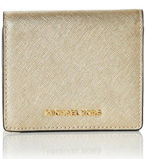 cde5d368a061 ... Michael Kors Women's Jet Set Carry All Card Case, Pale Gold  32T6MTVD1M-740. Image 1
