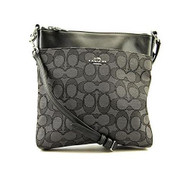 Coach Women's Signature North/South Swing Pack, Silver/Black 52576-SVDK6