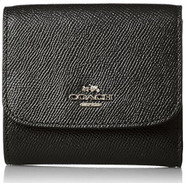 Coach Women's Small Wallet, Light Gold, Black, OS 57725-LIBLK