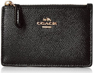 COACH Women's Crossgrain Mini ID Skinny Li/Black 57841-LIBLK