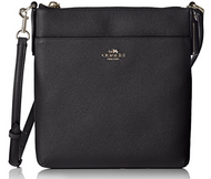 COACH Women's Embossed Txt Leather North/South Swingpack Light/Black Cross Body 57954-LIBLK