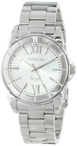 Invicta Women's 0457 Angel Collection Rhodium-Plated Stainless Steel Watch In...