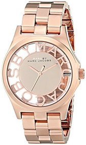 Marc by Marc Jacobs Women's MBM3207 Skeleton Rose Gold-Tone Stainless Steel Watch with Link Bracelet